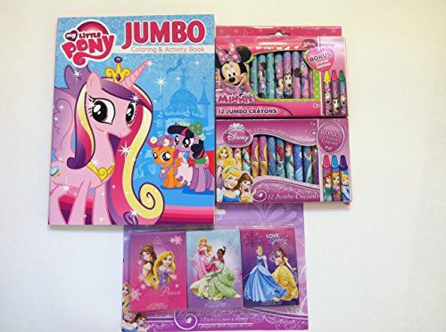 Bundle Of 4 Items One Little Pony Jumbo Coloring Activity Book And 3 Packs