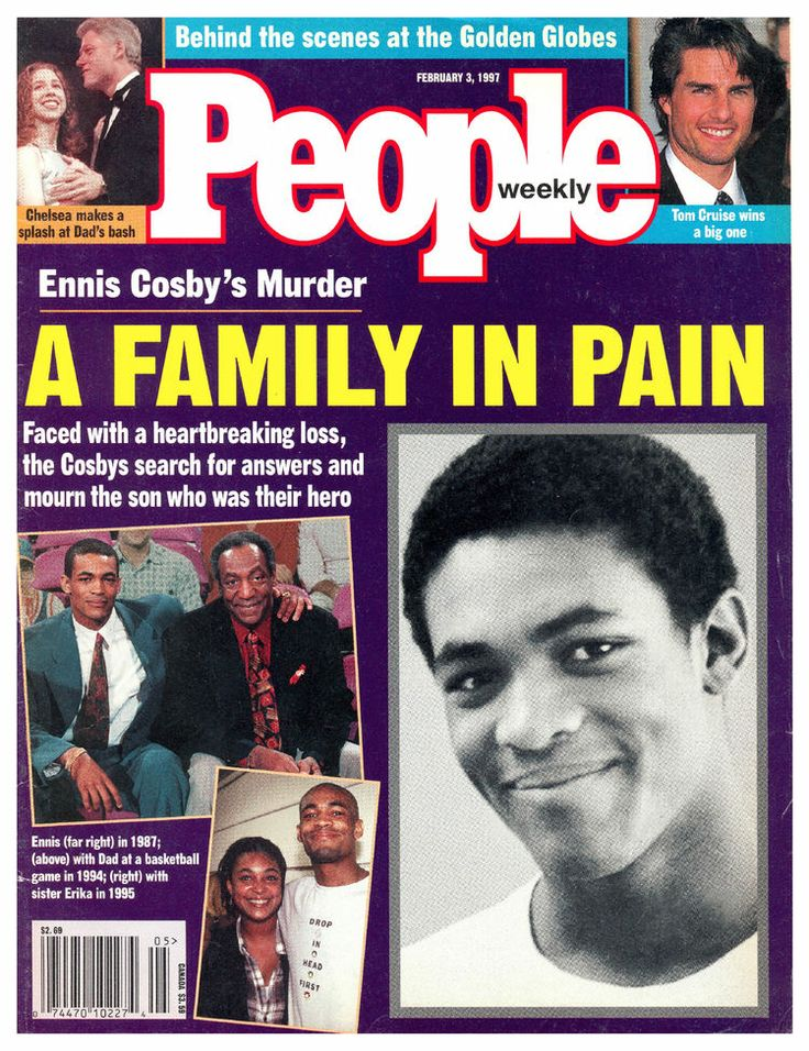 Ennis William Cosby (April 15, 1969 – January 16, 1997) was the son of American comedian-actor Bill Cosby and his wife, Camille. Cosby, a graduate student and aspiring teacher, was fatally shot by Mikhail Markhasev, an 18-year old Ukrainian-born immigrant in an attempted robbery in Los Angeles in 1997.This NEVER had to happen to Ennis! So sad.