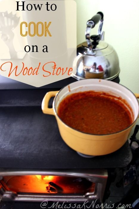 6 Tips for Cooking on a Wood Stove Did you know you could bake on a wood stove? Put your heat source to work as your cooking source and save money. We just started building fires again and this came at the perfect time.