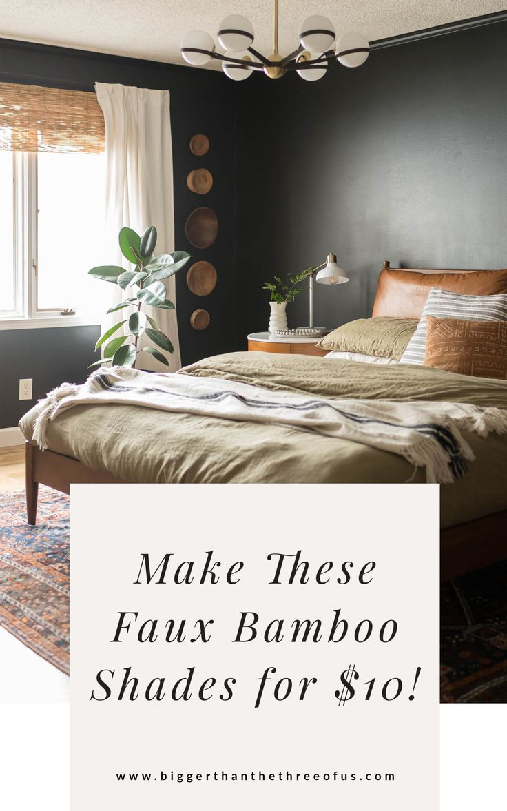 """DIY Bamboo Shades for the Layered Window """"Look"""" ($10 Hack ..."""