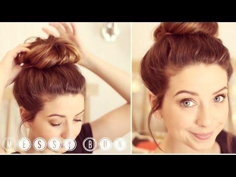 ▶ How To: Messy Bun   Zoella - YouTube