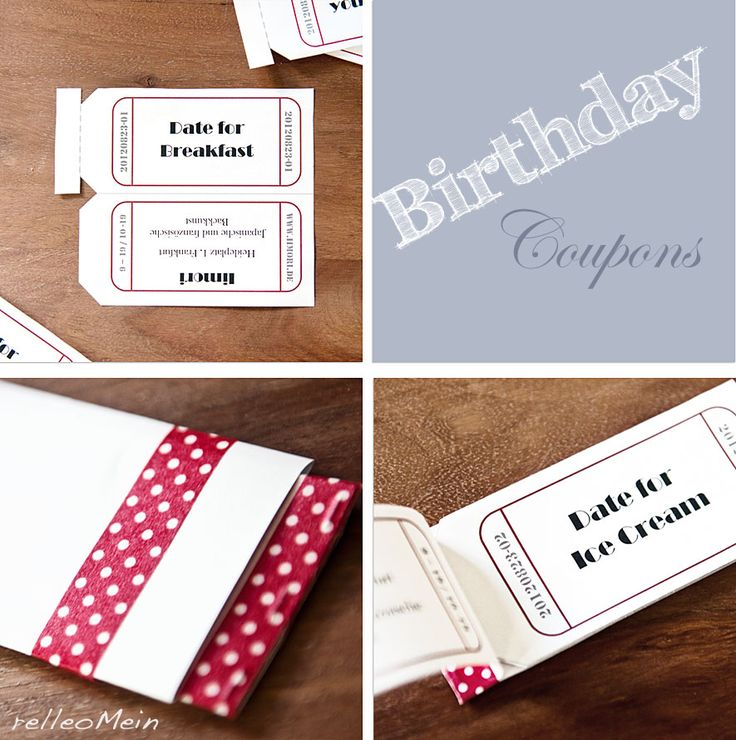 25+ Best Ideas About Birthday Coupons On Pinterest