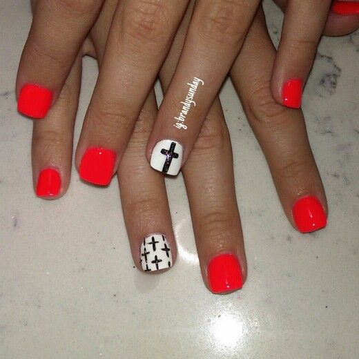 Cross nail art.... @Brandy Waterfall Henderson - The 25+ Best Cross Nail Designs Ideas On Pinterest Pretty Nails