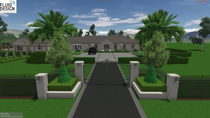 Front gated entry to an amazing acreage estate in Sydney, Australia