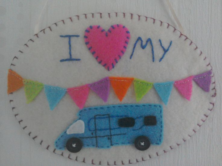 Motorhome decoration, I love my motorhome, trailer decoration, gifts for her, gifts for him, travel lovers gift, motorhome accessories by TheCraftingGardener on Etsy