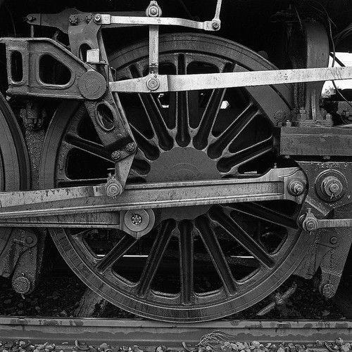 worldwiderails:    Steam Train Wheel by Ben Kreunen on Flickr.