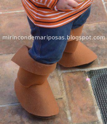 mi rincón de mariposas: Disfraces: botas de fieltro