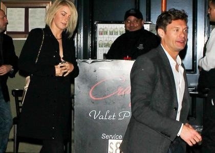 Julianne Hough  Ryan Seacrest's WeHo Date Night -                                     Getting in some important quality time,  Julianne Hough and  Ryan Seacrest enjoyed a date night on Friday (January 25) in West Hollywood.  Looking elegant in a