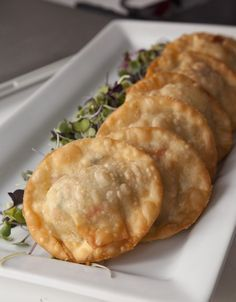 Deep Fried Lobster Ravioli, made with wonton wrappers. You could do this with jumbo lump crab meat too!