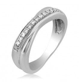 0.13 TCW SI/FG Diamond Ring in 18K White Gold