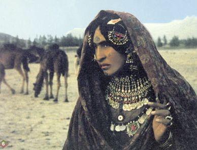 Kuchi nomad of Afghanistan with traditional face tattoos