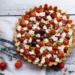 ... , Thyme and Goat Cheese. Baked in a traditional French pastry crust
