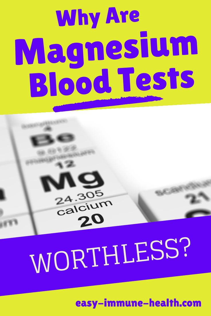 Magnesium blood testing is completely worthless. You simply cannot determine magnesium deficiency from checking a magnesium blood test.   http://www.easy-immune-health.com/magnesium-level.html