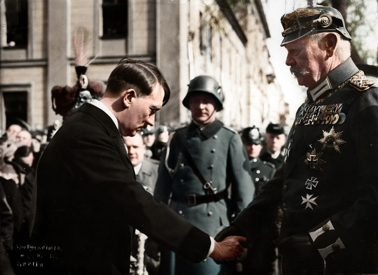 Adolf Hitler shakes hands with Paul von Hindenburg at the opening of the new Reichstag in Potsdam March 21 1933 [1024x745]