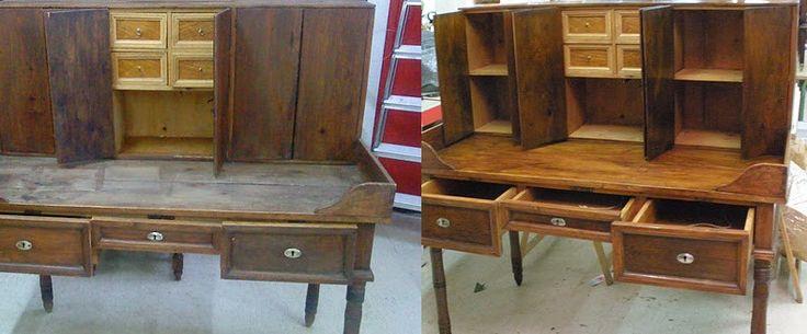Un mueble con mucha história, listo para algunos años más después de librarse de la carcoma