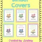 Get organized this school year with these cute and fun owl themed binder covers! This is a set of 6 fun covers with editable text boxes to type you...