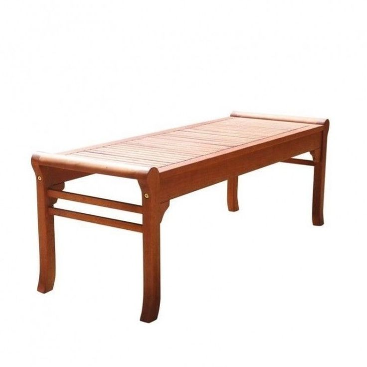 Outdoors Garden Bench 4 Foot Wood Patio Furniture Porch Seat Backless Resistant #OutdoorsGardenBench
