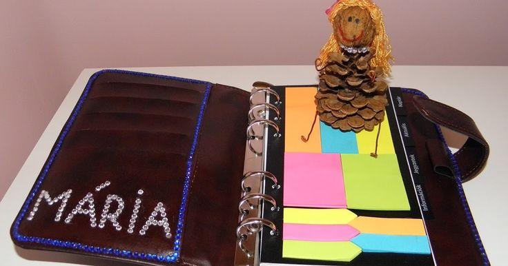 Diy diary decoration. Névre szóló határidőnapló.