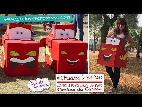 Rayo McQueen de Carton :: Coche de Caja de Cartón :: Chuladas Creativas - YouTube
