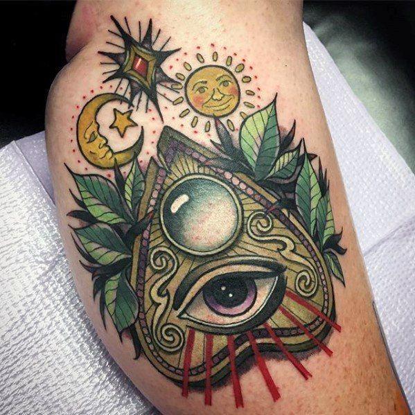 Thigh 3d Planchette Guys Tattoo Ideas Tattoosforguys Tattoos For Guys Mystical Tattoos Tattoo Designs Men