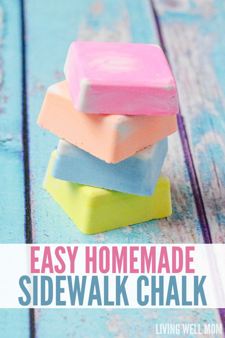 DIY Craft: Tired of buying expensive sidewalk chalk at the store? You won't believe how easy it is to make at home! Get the step-by-step directions for Easy Homemade Sidewalk Chalk for Kids here. Your kids will love it and so will you!