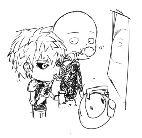 Saitama One Punch Man Coloring Pages Coloring Pages