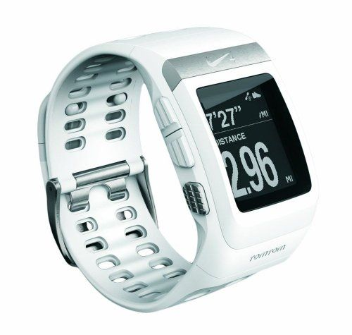TomTom Nike+ Sportswatch GPS Wht/Slvr W-EU/SA - GPS para carrera de 3. Blanco