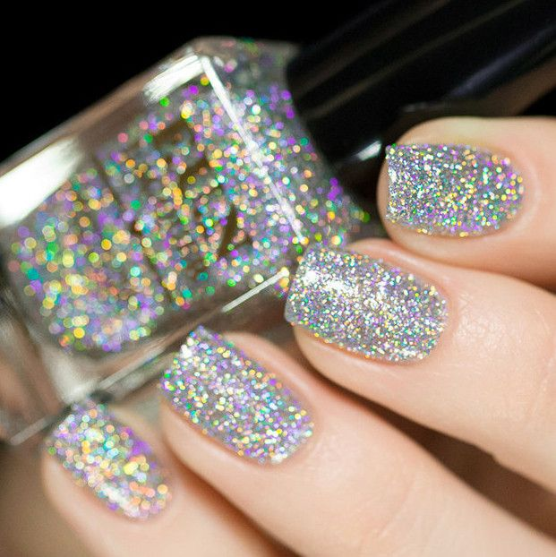 Nail Polish Interesting: Style, Sparkly Nails And Bottle