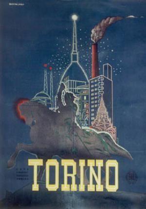Vintage Italian Posters ~ #illustrator #Italian #posters ~ Torino Vintage Poster