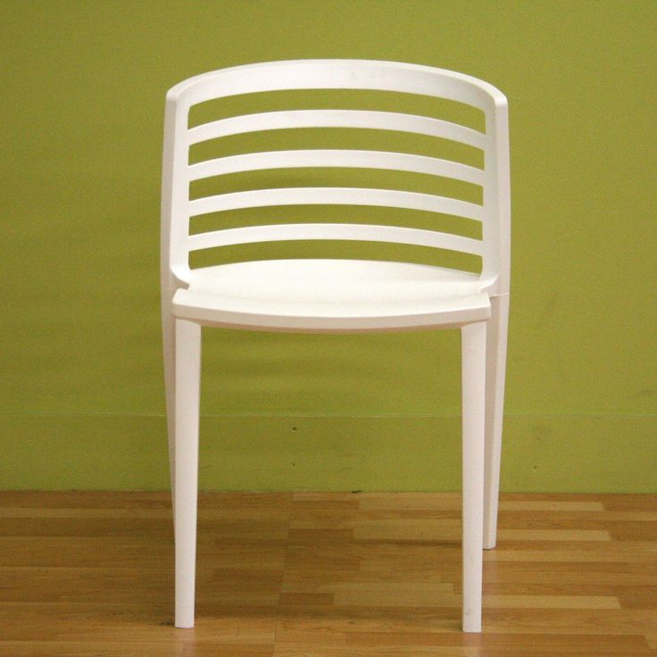 Baxton Studio Ofilia White Plastic Chair   Set Of 2