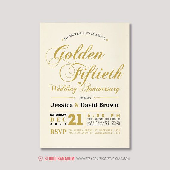 19 best Anniversary Party images on Pinterest Birthday invitations - fresh invitation samples for 50th wedding anniversary