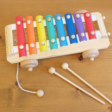 木のおもちゃシロフォンカー(2才・3才から)エドインター楽器鉄琴(プルトイプルトーイ誕生日1歳2歳3歳男男の子誕生日1歳2歳3歳女女の子木のおもちゃ木製玩具出産祝い赤ちゃん知育玩具スローププレゼント)【楽ギフ_包装】【RCP】3,132
