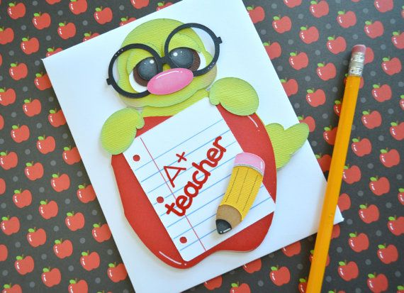 Teacher Gifts Teacher Greeting Card by CraftyClippingsbyPeg