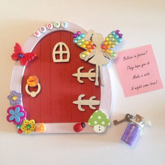 Beautiful personalised fairy door decorated to your for Fairy door with key