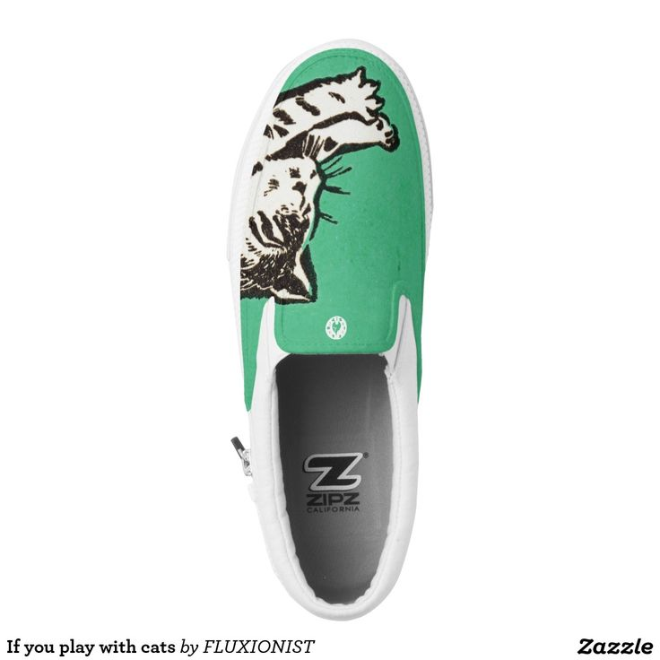 """""""If you play with cats, expect to be scratched"""" printed shoes - $76.95 Made by Delta Custom / Design: Fluxionist"""