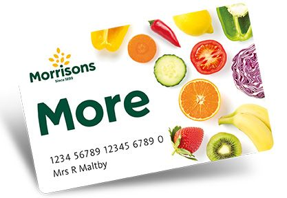 Apply for Morrisons More card and earn points + £5 More voucher for every 5,000 points you earn.