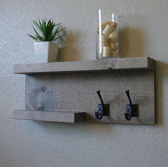 Modern Rustic 2-Tier Bathroom Shelf от KeoDecor на Etsy