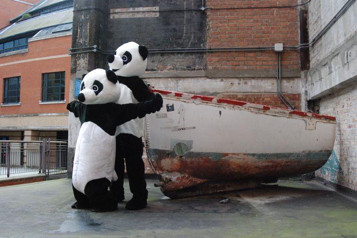 It feels like a Titanic moment outside the Bargehouse