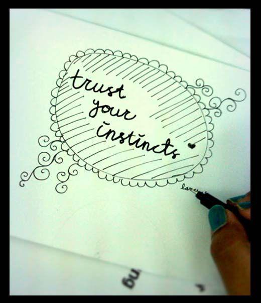 Trust it...