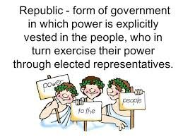 Government: Venezuela's government is a republic, however, Venezuela's government is not acting like a republic as of right now. In the picture, it is describing the republic form of government. Venezuela in some ways is a republic government. For example, the people vote for the president. However, currently Venezuela's government is enforcing limitations upon the people, with food, electricity, etc. because they are low on money.