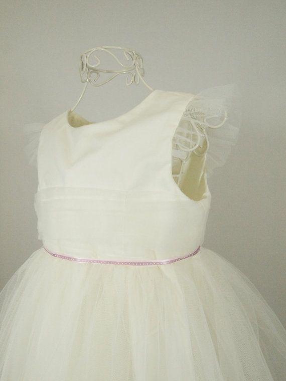 Ivory Tulle Bridesmaids Dress  Flower Girl Dress  by AnnaandAlex, £125.00