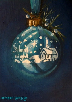 'SILENT NIGHT, SHINY BRITE' vintage ornament painting FREE USA shipping. by WitsEnd, via Etsy. SOLD: Cards Vintage Ornaments, Ornament Painting, Art, Free Usa, Christmas Ornaments, Christmas Vintage, Christmas Paintings