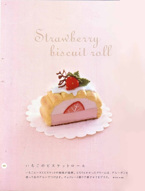 Inspiration photo only.   Ruko Strawberry Biscuit Roll free pattern.   Blog is no longer up and running.    Sometimes you have to print these patterns off when you see them because Blogs don't last forever.