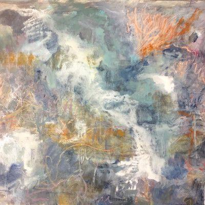 Andjana Pachkova, It's Only 4 Degrees, 2016, Mixed Media 650g Watercolour paper, 76 x 55 cm - $950 (Framed)  www.stanleystreetgallery.com.au