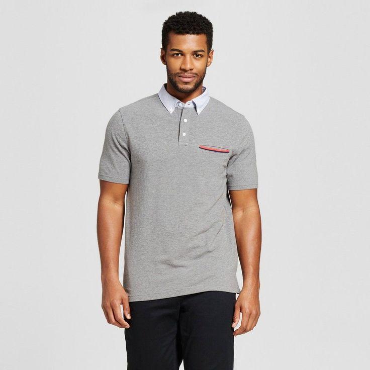 Men's Club Polo Shirt Cement (Silver) Xxl - Merona