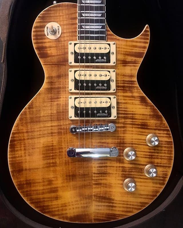 Vintage Usa Pro Shop Psv100 3afd Paradise Amber Flame Top Guitar W Coa Bag One Of A Kind Amp D Guitars Reverb Vintage Usa Guitar Vintage Brand Guitars