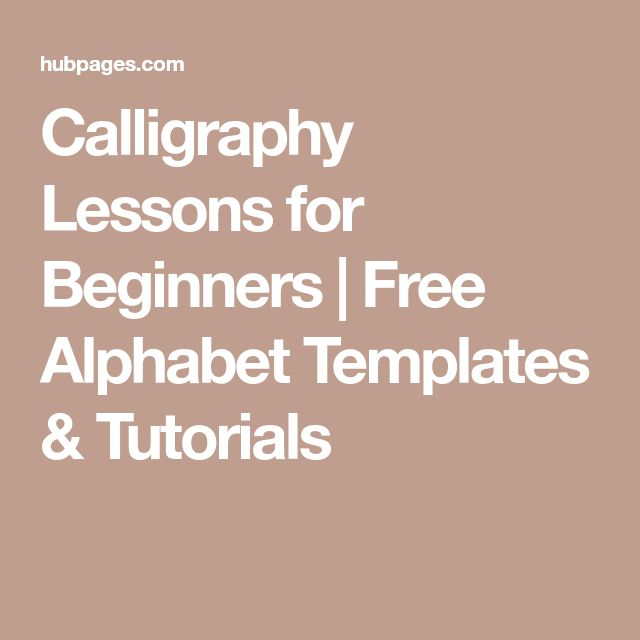 Calligraphy Lessons for Beginners   Free Alphabet Templates & Tutorials