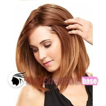 light auburn hair | Straight Short Synthetic Hair Wigs #28 Light Auburn no 1