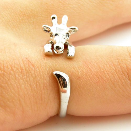 Giraffe Animal Wrap Ring - Shiny Silver (I'd rather it as a cuff bracelet)