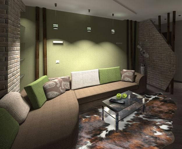 interior decorating with green colors and pastel color tones
